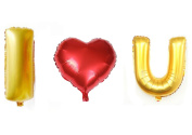 "3 PCS Helium Foil balloons , Party Wedding Supply ""I LOVE YOU"" Type 1"