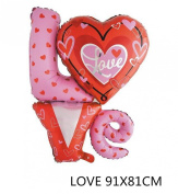"""1 PCS Helium Foil balloons , Party Wedding Supply """"LOVE"""" Type 8"""