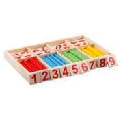 SMARTSTAR Wooden Number Cards and Counting Rods with Box