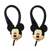 2 pcs 3D Mickey Mouse Soft Zipper Pull Charms for Backpack Bag Pendant Jacket