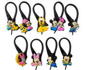 9 pcs Mickey Friends # 5 Soft Zipper Pull Charms for Backpack Bag Pendant Jacket