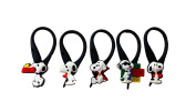 5 pcs Snoopy # 2 Soft Zipper Pull Charms for Backpack Bag Pendant Jacket