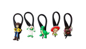 5 pcs Toy Story # 3 Soft Zipper Pull Charms for Backpack Bag Pendant Jacket