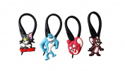 4 pcs Tom and Jerry Soft Zipper Pull Charms for Backpack Bag Pendant Jacket