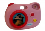 SMOBY - Cotoons Camera - Baby's first camera with 3 different sounds - Colour PINK