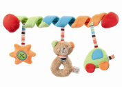 Fehn Teddy 091212 Activity Spiral Teddy Toy Multi-Coloured