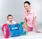 Inflatable Baby Roller Music Rattle Sound Toddler Crwaling Pushing Activity Toy