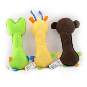 Pack of 3 Giraffe Crocodile Monkey Baby Rattle Infant Educational Toys