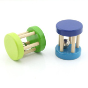 Pack of 2 Crisp Sound Wood Rattles Baby Toys Preschool Toys