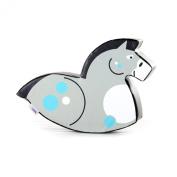 Implay® Soft Play Children's Horse Rocker Activity Toy - 610gsm PVC / High Density Foam - Grey - 100cm x 25cm x 50cm