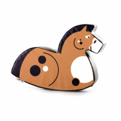 Implay® Soft Play Children's Horse Rocker Activity Toy - 610gsm PVC / High Density Foam - Chestnut Brown - 100cm x 25cm x 50cm