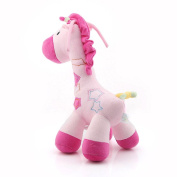 Baby Infant Toys Giraffe Music Educational Pull Bell Baby Doll Pink