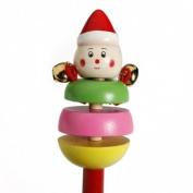 Bheema Cute Cartoon Animal Musical Wooden Baby Toy Hand Ring Bell