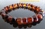 PURE BALTIC AMBER BRACELET FOR ADULT & TEENS CHERRY-COGNAC COLOUR.