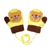 Durable Lovely Bear Warm Gloves Useful Winter Baby Mittens 3-24 Months