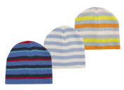 TICK TOCK Baby Girls Hat And Mitten Set Gloves Stripy Knitted Warm Cosy Winter