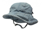 Max and Tilly Large (approx 12m) 46cm Baby Boy Cotton Sun Hat with Peek - Navy