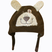 Toddlers Thermal Fleece Lined Novelty Grizzly Bear Hat