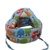 Baby & Infant Toddler Safety Helmet Head Protection Cap Owl Blue