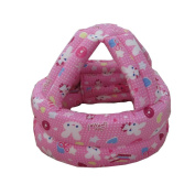 Baby & Infant Toddler Safety Helmet Head Protection Cap Pink Rabbit