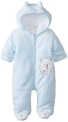 ABSORBA Babys Newborn B Bear Fuzzy Footie, Blue, 0-3 Months Colour