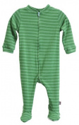 City Threads Baby Boys' Soft Stripe Footie - Green - 9-12 Months Colour