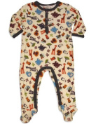 Pepper Toes - Newborn and Infant Boys Long Sleeve Footed Zoo Pals Coverall, Ivory, Multi 30337-18Months Colour