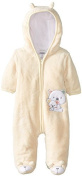 ABSORBA Unisex-Baby Newborn Uni Bear Fuzzy Footie, Yellow, 3-6 Months Colour