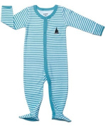 Leveret Footed Striped Romper 100% Cotton (Size 3-24 Months) (12 Months, Blue & White) Colour