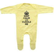 Romper Stompers Baby Boy's Keep Calm And Cuddle Me Rompersuit
