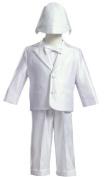White Satin Christening Baptism Tuxedo (0-3 Months) Size