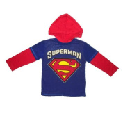 Superman Infant Pullover Long Sleeve Hooded Jersey T Shirt 12M Red & Blue Colour