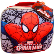 Boys Ultimate Spiderman Magic 3D School Lunch Travel Bag