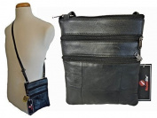 Mens Mans Small Soft Leather Travel Pouch Man Bag Neck Shoulder Holster Bags RL178M