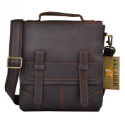 Estarer Men's Vintage Leather Messenger bag Shoulder Bag A4