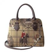 Signare Womens Ladies Tapestry Fashion Handbag Across Body Bag (Convertible) Hunting
