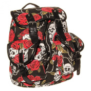 Blue Banana Red Rose Skull Backpack