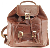 CTM Backpack Bag, Handbag Backpack Unisex, 27x30x13cm, Genuine leather 100% Made in Italy