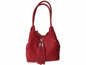 Giglio Medium Soft Italian Leather and Suede Handmade Reversible Shoulder Bag