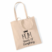 MUM, Queen of everything' Tote Bag Mothers Day Gift Birthday Xmas