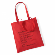 Dear Mum' Tote Bag Mothers Day Gift Birthday Xmas