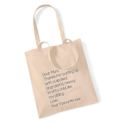 Dear Mum' Tote Bag Mothers Day Gift Birthday Xmas