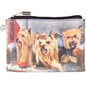 Best Friends Animal World - Yorkshire Terriers Sitting On A Chair Zippered Pouch Multi