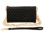 Bronze Times Double Use Lattice pu Leather Wallet Cellphone Case/ Mini Shoulder Bag