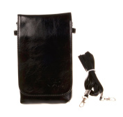 Bronze Times Pinky Colour PU Leather Mini Cellphone Pouch/Bag with Shoulder Strap