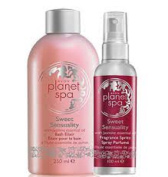 Avon Planet Spa Sweet Sensuality Pack - Fragrance spritz and Bath Elixir
