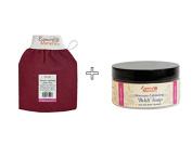 Moroccan Exfoliating Kessa Glove and Beldi Exfoliating Soap (200 g / 210ml). Hammam Pack