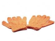 Nailycious orange exfoliating gloves for manicure, pedicure and body scrub
