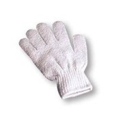 Nailycious white exfoliating gloves for manicure, pedicure and body scrub
