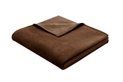 Bocasa Biederlack 150 x 200 cm Exquisite Cotton Blanket Throw, Dark brown